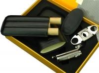 Подарочный набор COHIBA (зажигалка,чехол,гильотина)